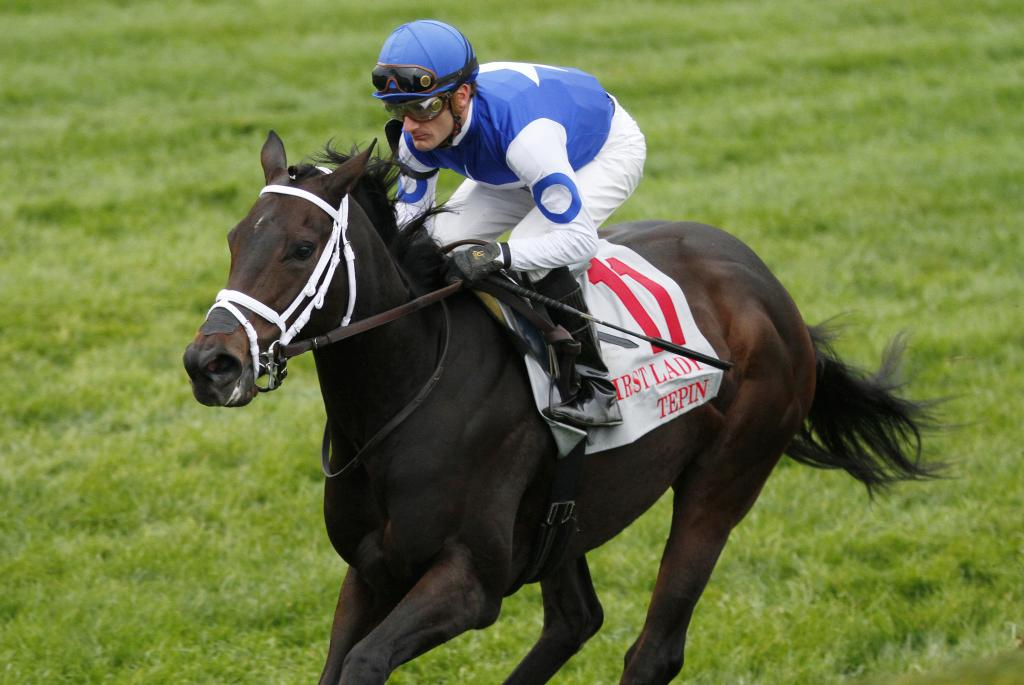 Tepin started an eight-race winning streak with a seven-length romp in the 2015 First Lady Stakes at Keeneland. (Eclipse Sportswire)