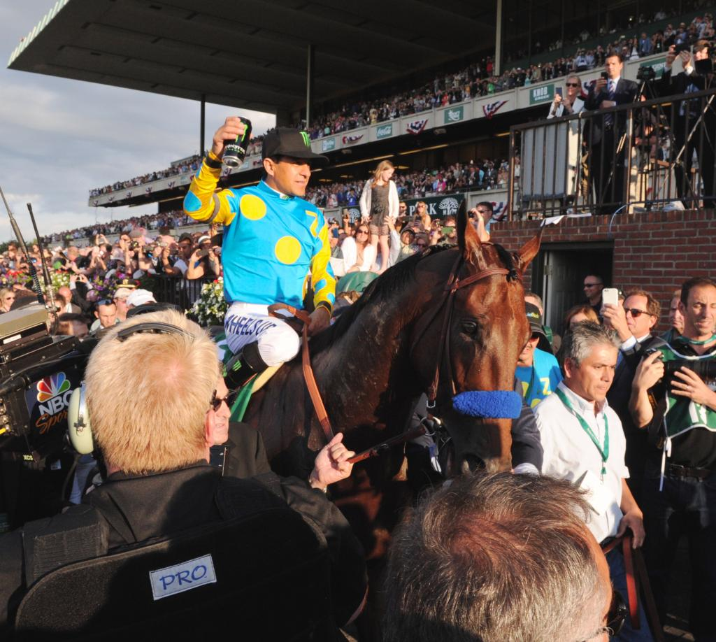 American Pharoah completed a Triple Crown sweep in the 2015 Belmont Stakes. (Eclipse Sportswire)