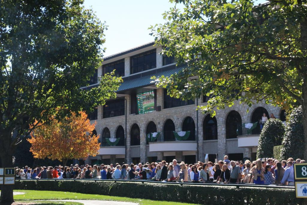 A brief power outage didn't stop fans from arriving at Keeneland en masse; by the first race, the place was packed. In fact, the second-highest FallStars Saturday crowd of all time was recorded when 28,101 fans packed the track. (Penelope P. Miller/America's Best Racing)