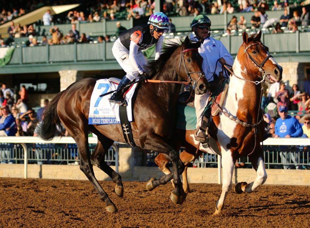 I had my eye on Miss Temple City. I'll admit it: I'll always root for a filly facing the boys, and I have tremendous respect for her trainer Graham Motion and her jockey Edgar Prado. (Penelope P. Miller/America's Best Racing)