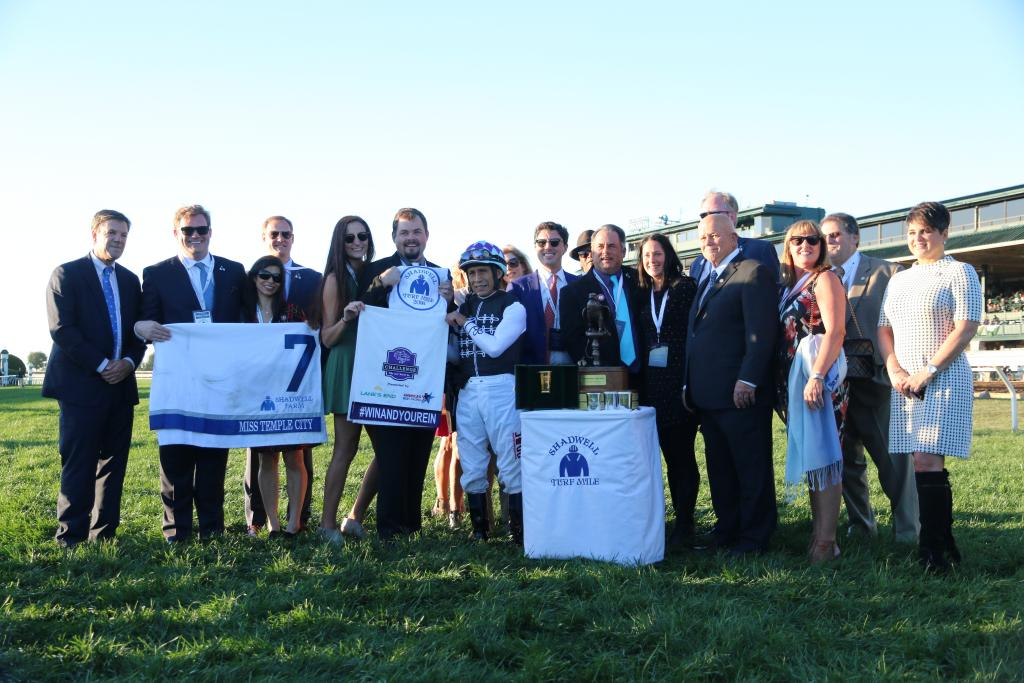 The Shadwell Turf Mile win earned Miss Temple City earned a spot in the Breeders' Cup Mile. Wouldn't it be something if the two favorites in the Nov. 5 championship race were fillies –  if she and Tepin both compete? (Penelope P. Miller/America's Best Racing)