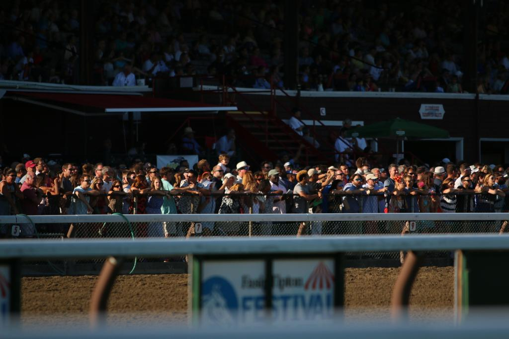 And everyone was at the track to watch the outstanding racing that's expected on a Saturday at Saratoga. (Penelope P. Miller/America's Best Racing)