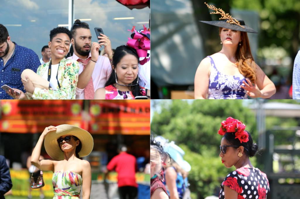 I also wanted to take in the fashion scene at Belmont: New Yorkers know how to dress for an event, and people looked absolutely stunning in their finest racing clothes. (Penelope P. Miller/America's Best Racing)