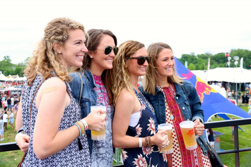 InfieldFest was the perfect place for friends to celebrate the Preakness, and I loved seeing groups coming together to enjoy the festival atmosphere surrounding the races. (Penelope P. Miller/America's Best Racing)