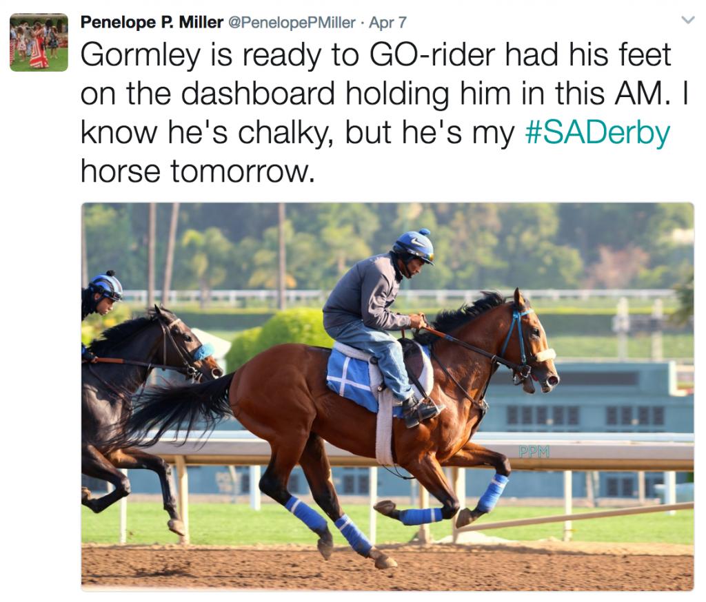Santa Anita Derby Diaries Glorious Gormley America S