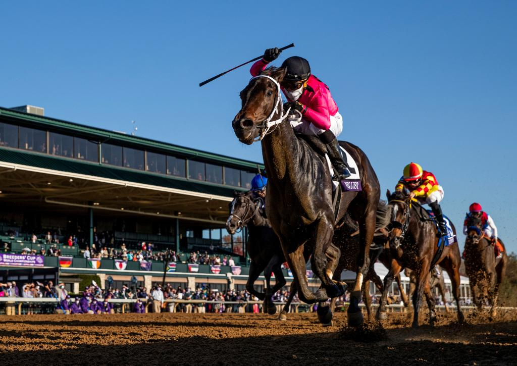 Vequist proved best in the Breeders' Cup Juvenile Fillies. (Eclipse Sportswire)