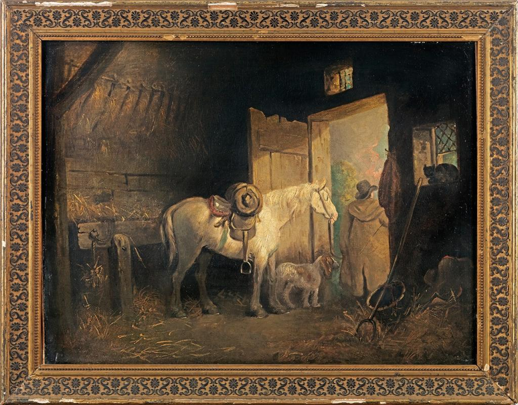 A Stable's Interior by George Morland (Courtesy of Cross Gate Gallery)