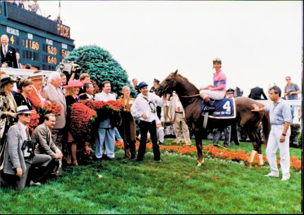 Chris Antley after winning 1991 Kentucky Derby aboard Strike the Gold. (Anne Eberhardt/Blood-Horse)