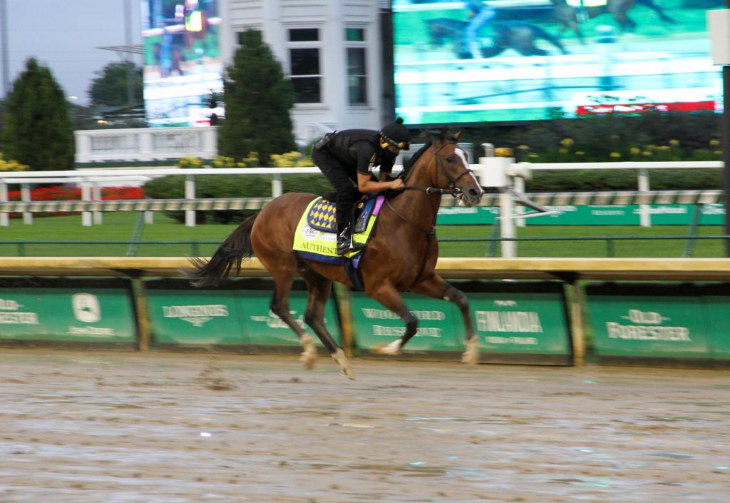 Authentic, trained by Bob Baffert  (Annise Montplaisir/America's Best Racing)
