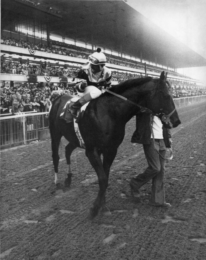 Seattle Slew winning 1978 Marlboro Cup. (Blood-Horse/Bob Coglianese)