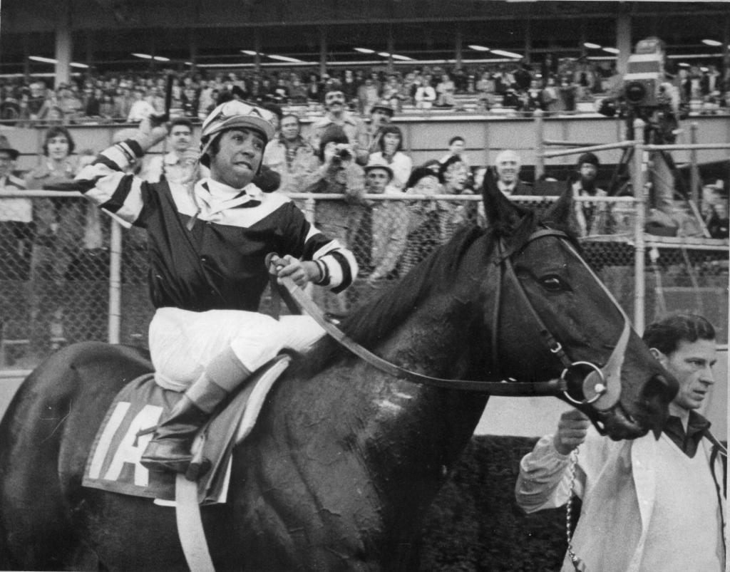 Seattle Slew winning 1978 Stuyvesant Handicap (Blood-Horse/Bob Coglianese)
