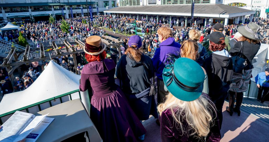 Over 70,000 fans attended Churchill Downs for Saturday's Breeders' Cup races. (Eclipse Sportswire)