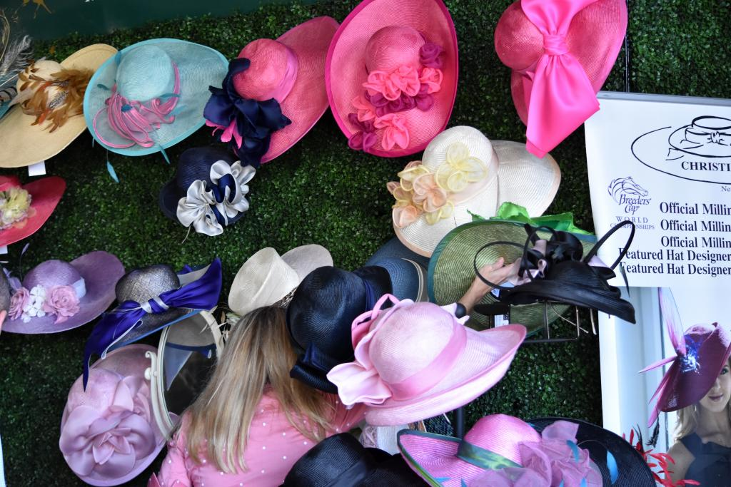 Right next to it, those looking for their Kentucky Derby hats had many choices at Christine A. Moore's booth. As always, Moore provided a variety of choices for anyone looking to purchase a hat for the Kentucky Derby or just a day at the races. (Melissa Bauer-Herzog/America's Best Racing)