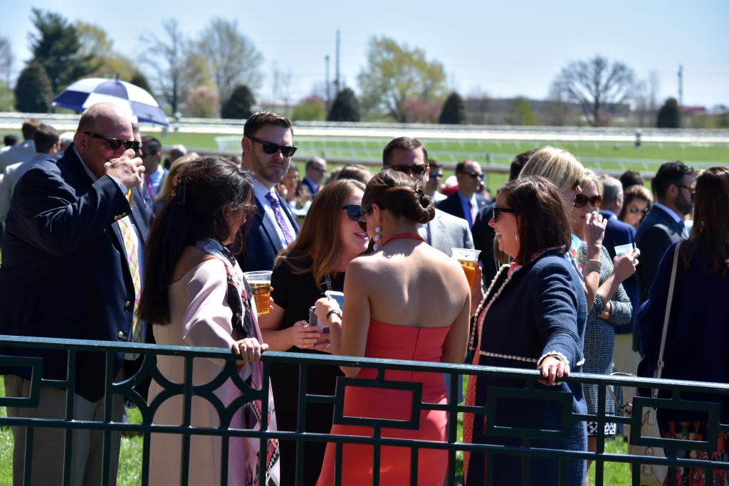 The great thing about Keeneland is the chance it gives you to socialize with friends in a beautiful setting. The parade of big name horses that race on the track every day doesn't hurt either (Melissa Bauer-Herzog/America's Best Racing)