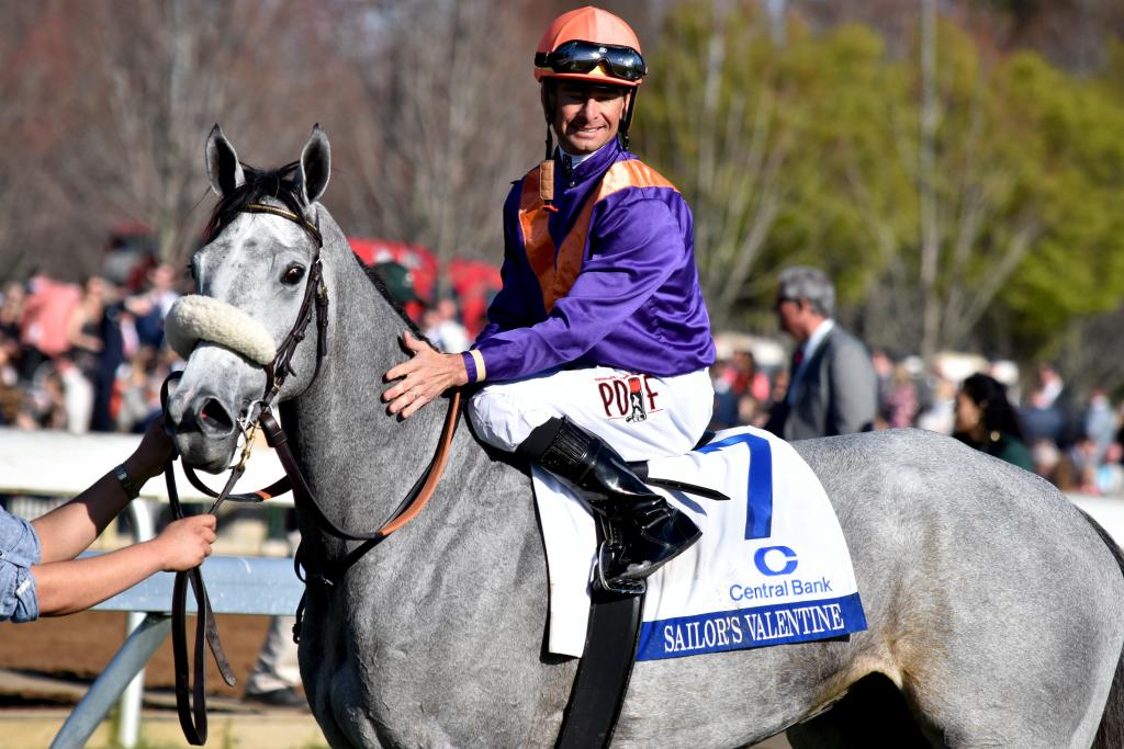 In the following race, current Juddmonte stallion Mizzen Mast gave the operation a double of sorts by siring Central Bank Ashland Stakes winner Sailor's Valentine. While Juddmonte doesn't own the filly, it was a major victory for their stallion. (Melissa Bauer-Herzog/America's Best Racing)