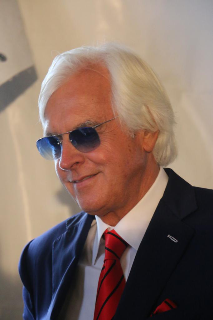 Bob Baffert after the press conference. (Julie June Stewart photo)