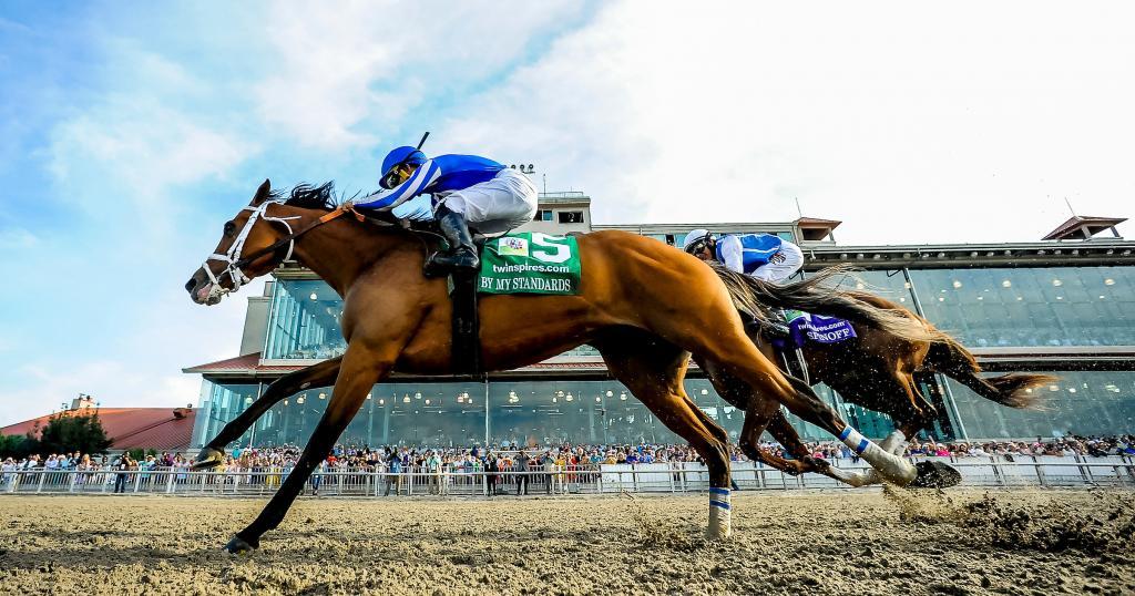 Louisiana Derby winner By My Standards. (Eclipse Sportswire)