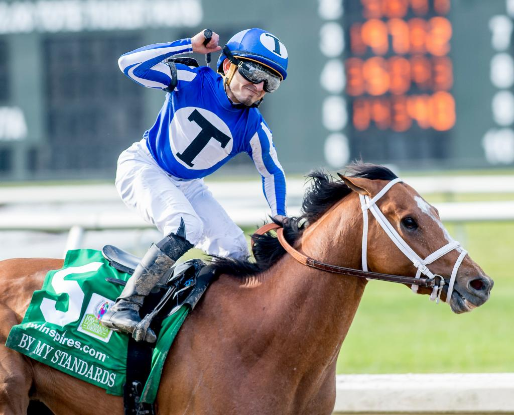 Louisiana Derby winner By My Standards. (Eclipse Sportswire)