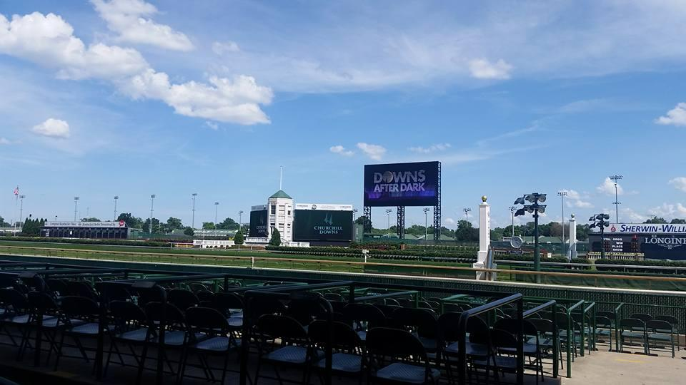 I arrived at the track early and enjoyed a few minutes before the festivities began. There's nothing like being at Churchill Downs, especially when you are right under the twin spires. (Melissa Bauer-Herzog/America's Best Racing)