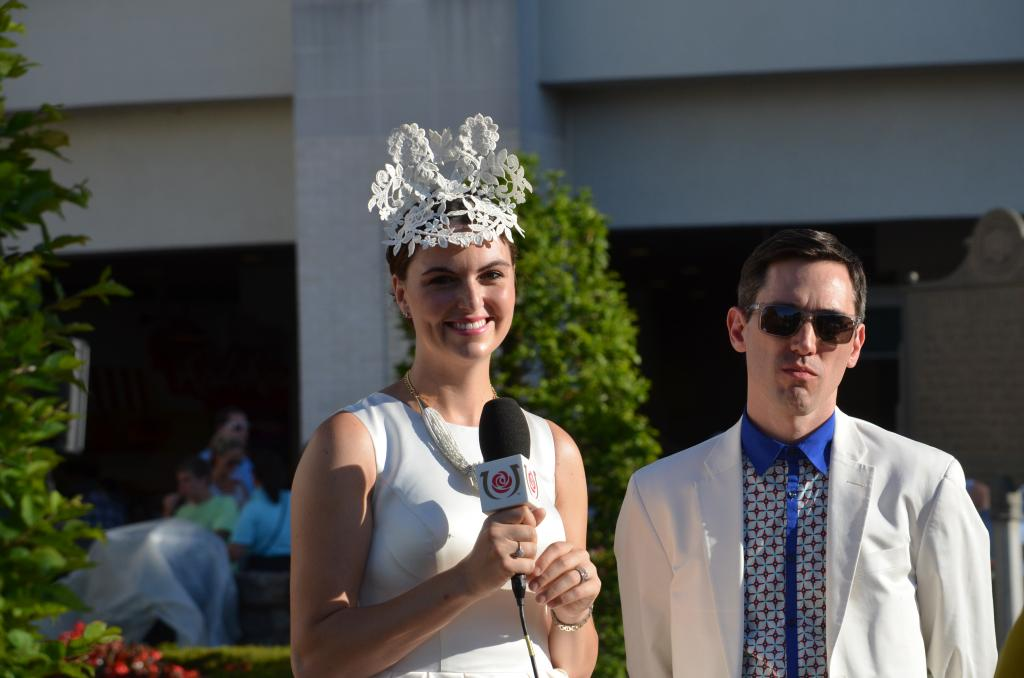 The night's theme was a white party and everyone was dressed to the nines in their best white outfits. (Melissa Bauer-Herzog/America's Best Racing)