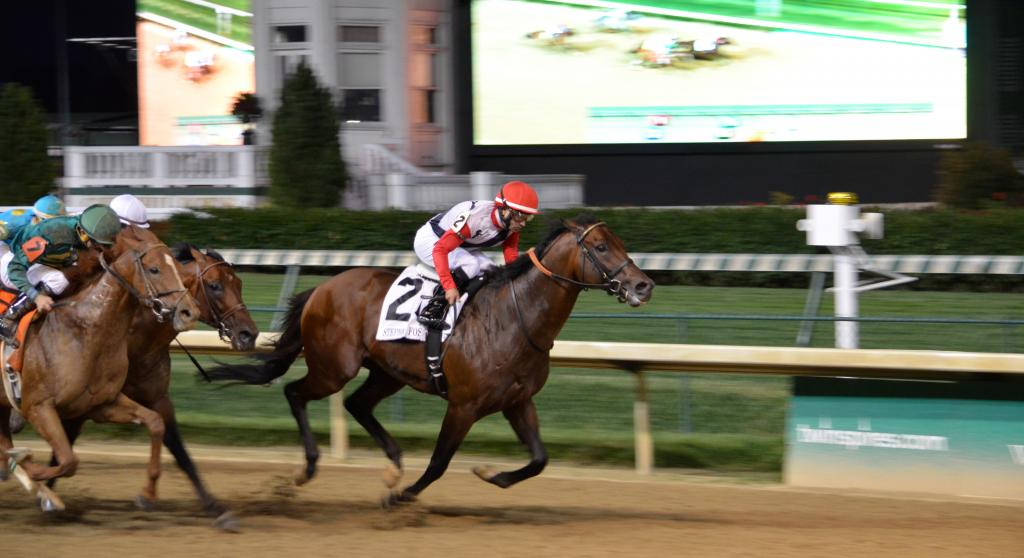 We probably should have taken the cue that Bradester was ready to run as he led wire-to-wire to win his first Grade 1 race. (Melissa Bauer-Herzog/America's Best Racing)