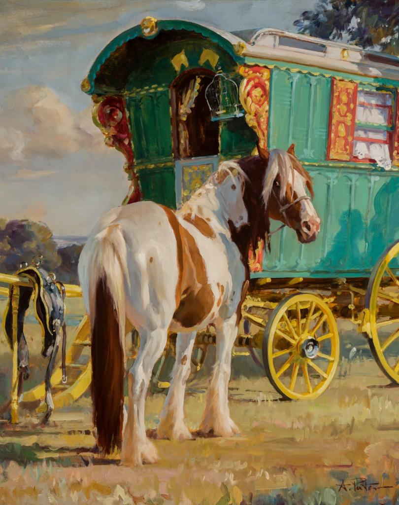 """Caravan to Appleby Fair,"" by Andre Pater"