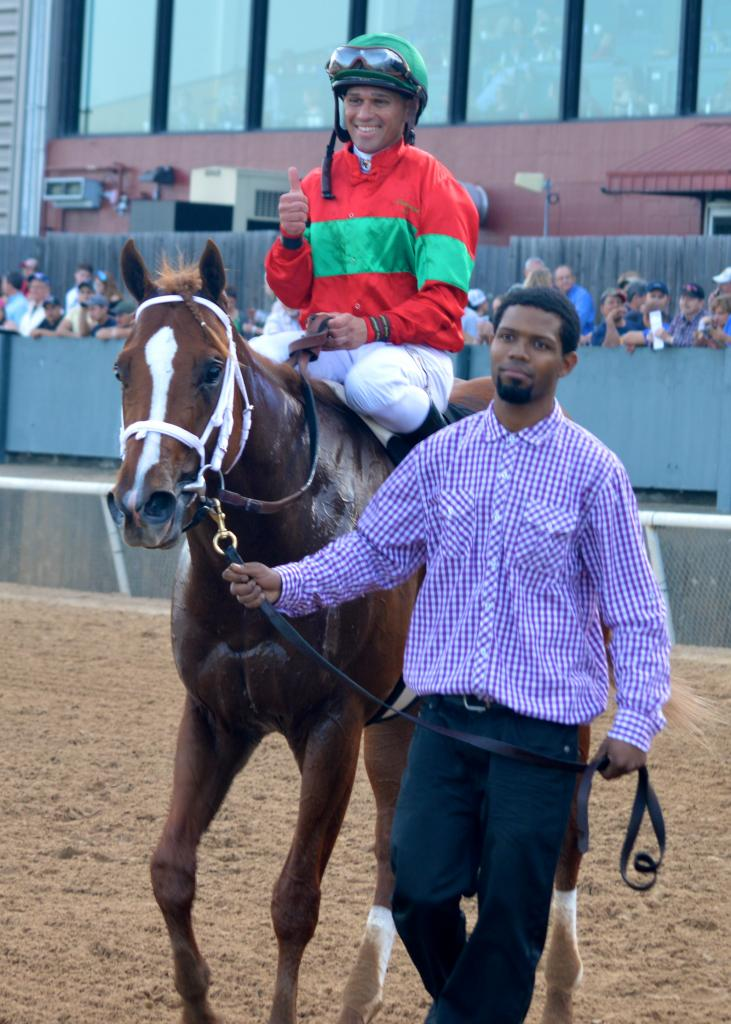 Castellano and Malagacy after winning the Rebel. (Sara Dacus photo)