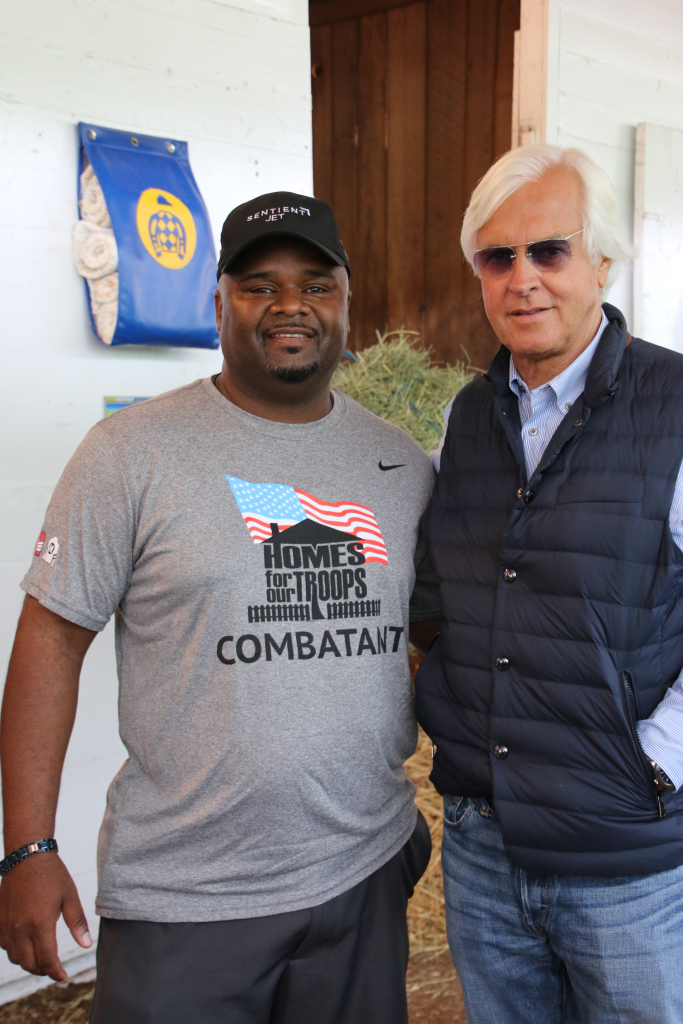 Chris Gordon with Hall of Fame trainer Bob Baffert. (Julie June Stewart photo)