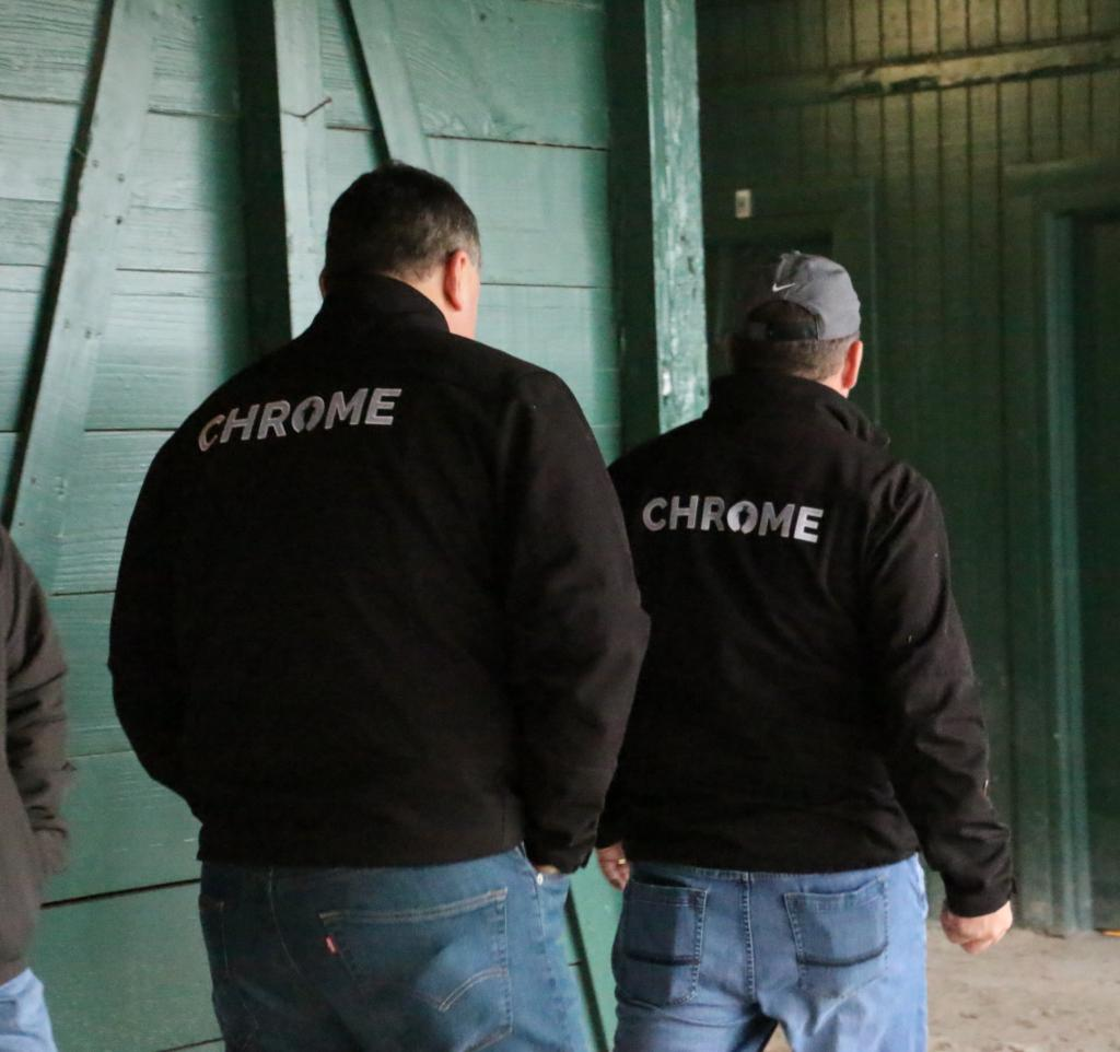 Members of Team California Chrome. (Julie June Stewart photo)