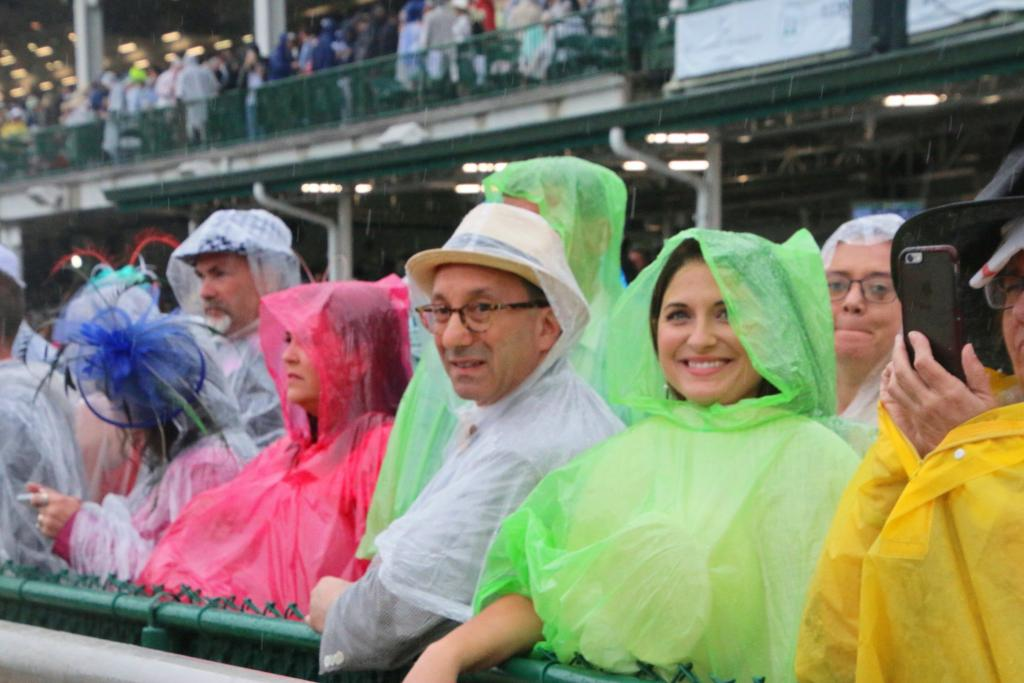 Colorful fans on the rail. (Julie June Stewart photo)