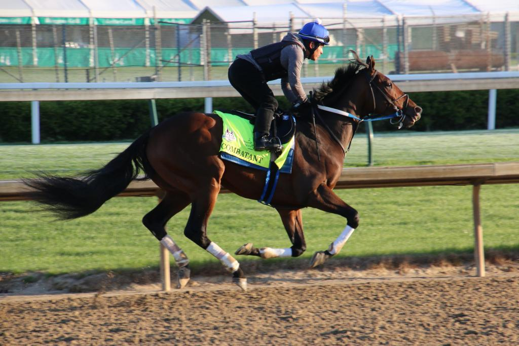 Combatant training at Churchill Downs. (Julie June Stewart photo)