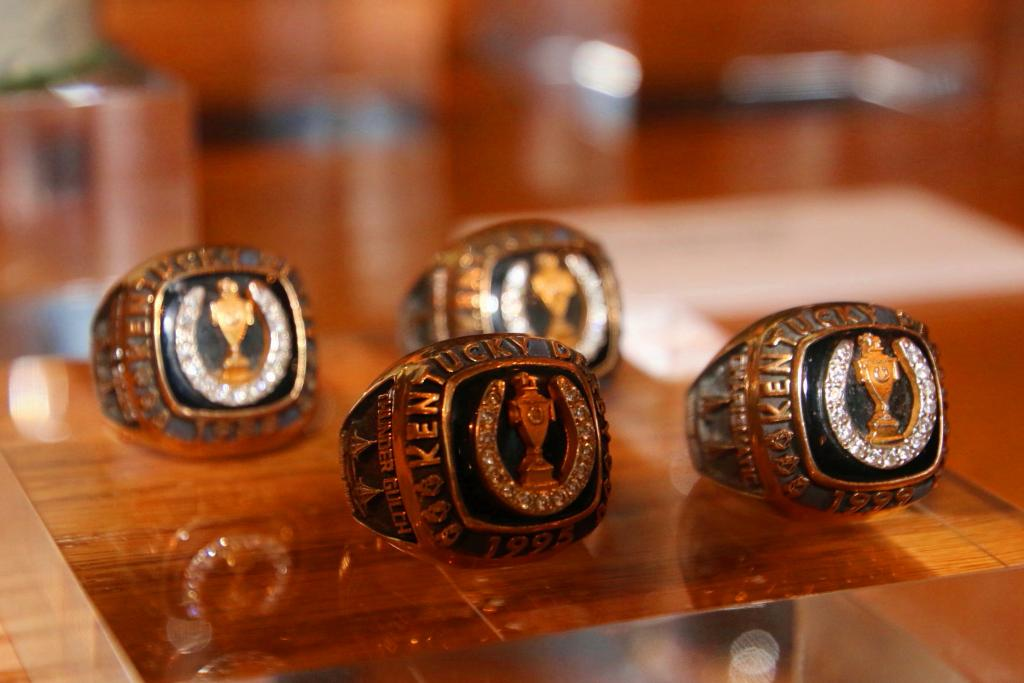 D. Wayne Lukas Kentucky Derby rings. (Julie June Stewart photo)