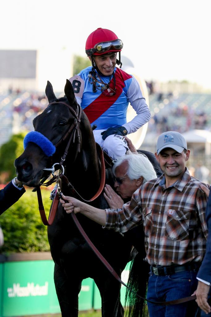 Medina Spirit after winning the 2021 Kentucky Derby. (Eclipse Sportswire)