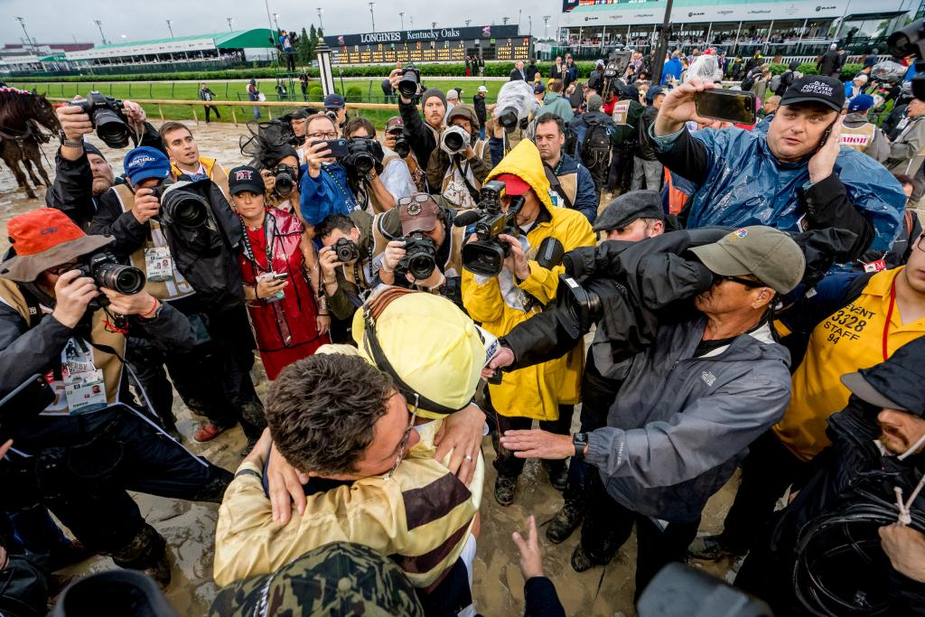 Prat and the connections of Country House react to the DQ. (Eclipse Sportswire)
