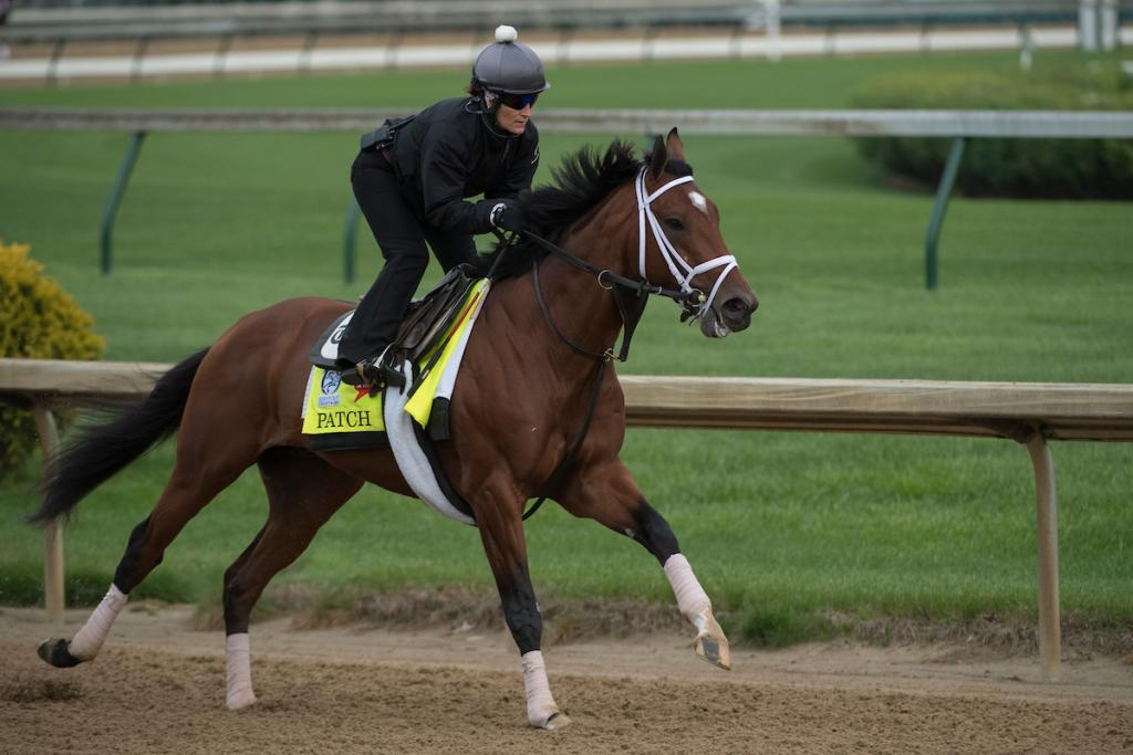 Patch training at Churchill Downs. (Eclipse Sportswire)
