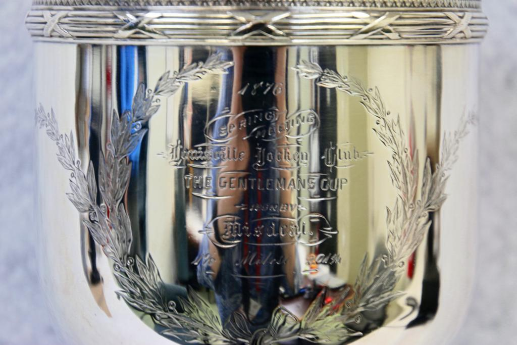 Exquisite detailing on the 1876 Gentleman's Cup won by Misdeal. (Julie June Stewart photo)
