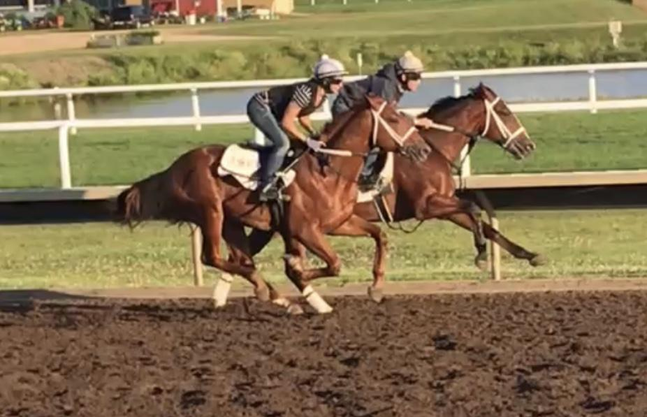 Fada aboard Inked as a 2-year-old at Canterbury Park in Shakopee, Minn.