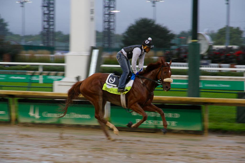 Finnick the Fierce, trained by Rey Hernandez (pictured here riding) (Annise Montplaisir/America's Best Racing)