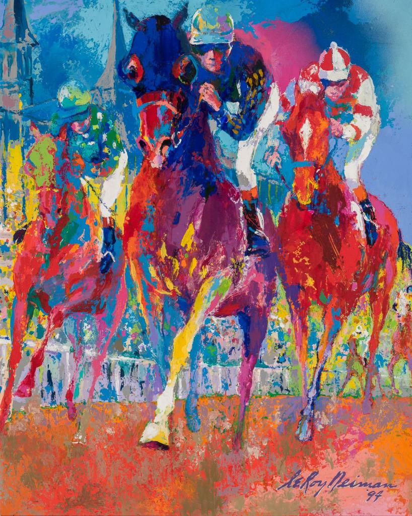 """Front Runners,"" by LeRoy Neiman"