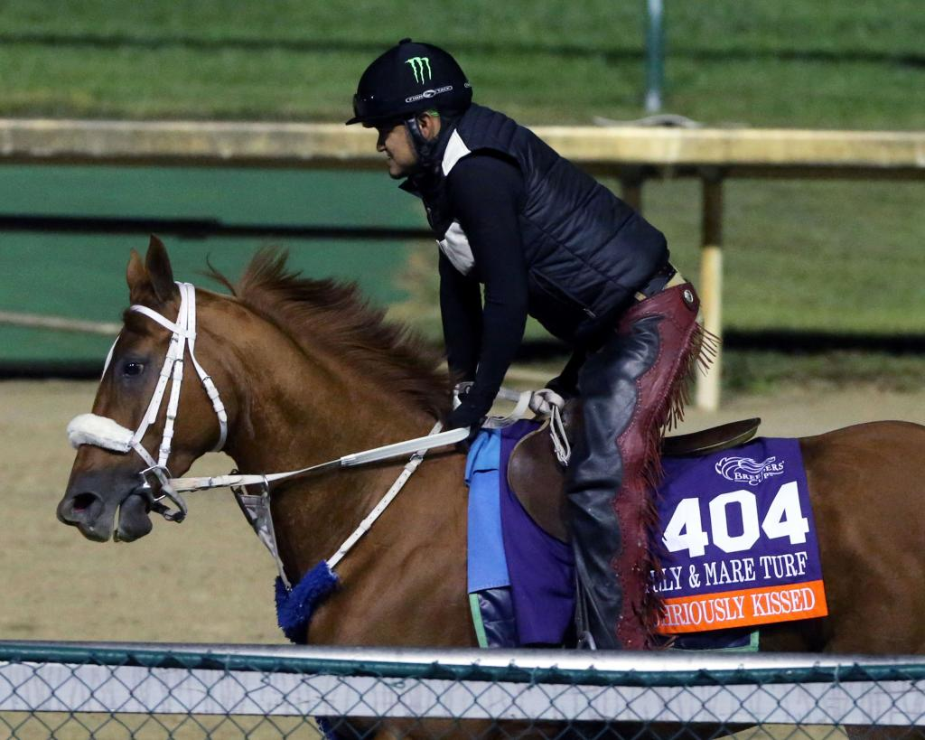 Fuhriously Kissed training at Churchill Downs. (Coady Photography)