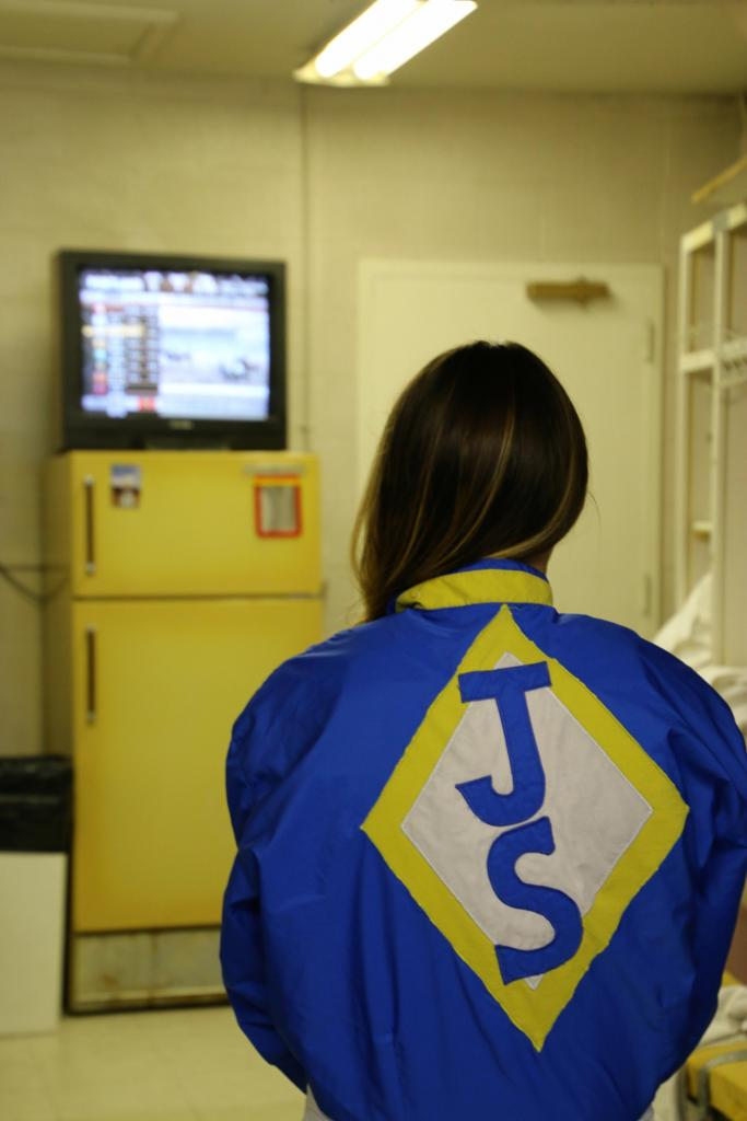 Getting ready in the Jockeys' Room. (Julie June Stewart photo)