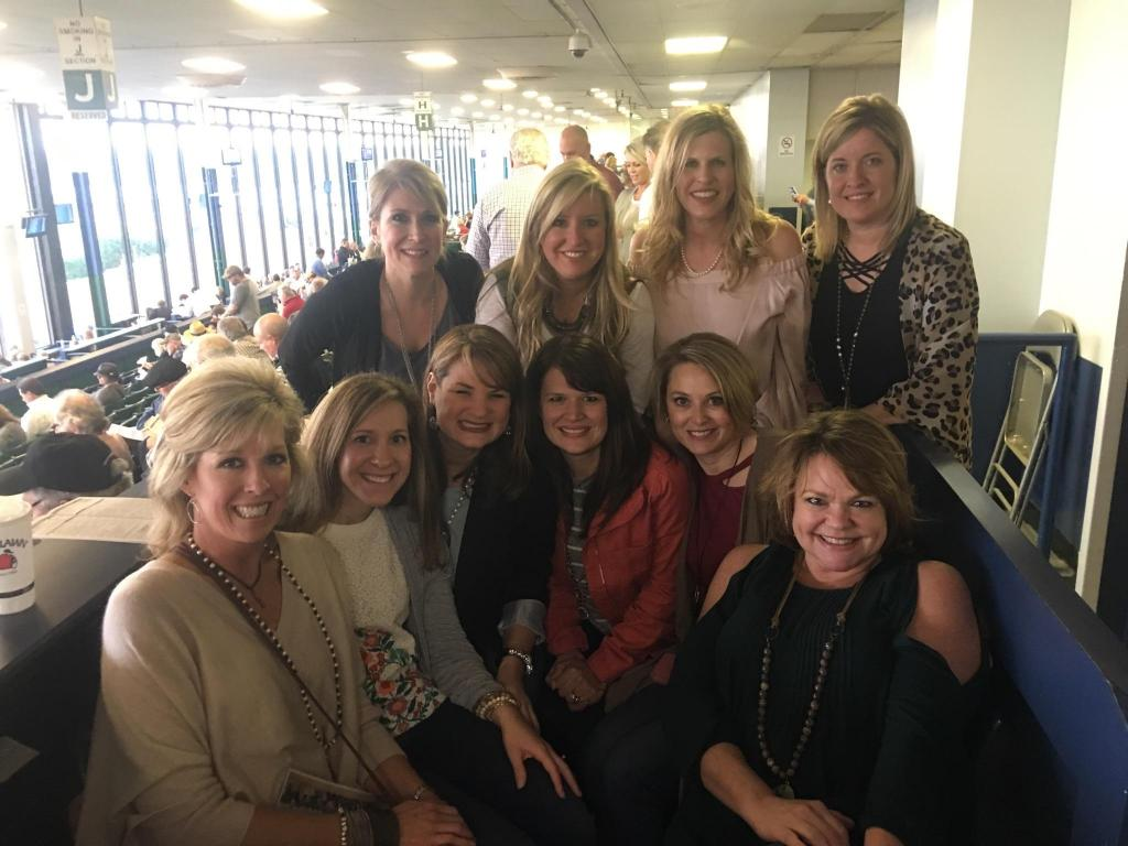 The girls from the party together at Oaklawn. (Courtesy of Sara Dacus)