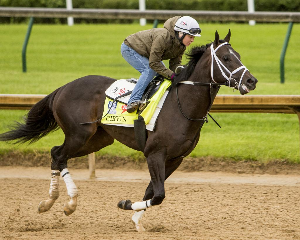 The Grady family's Derby horse, Girvin. (Eclipse Sportswire)
