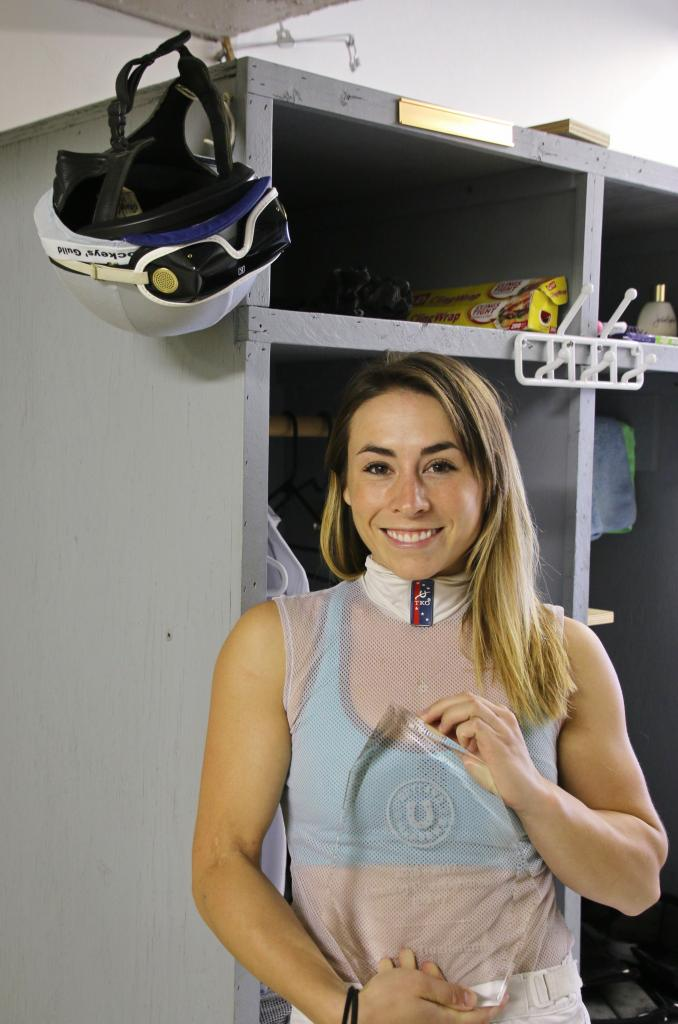 Kassie and her leading jockey award. (Julie June Stewart photo)