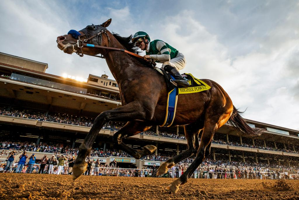 2019 TVG Pacific Classic Stakes winner Higher Power (Eclipse Sportswire)