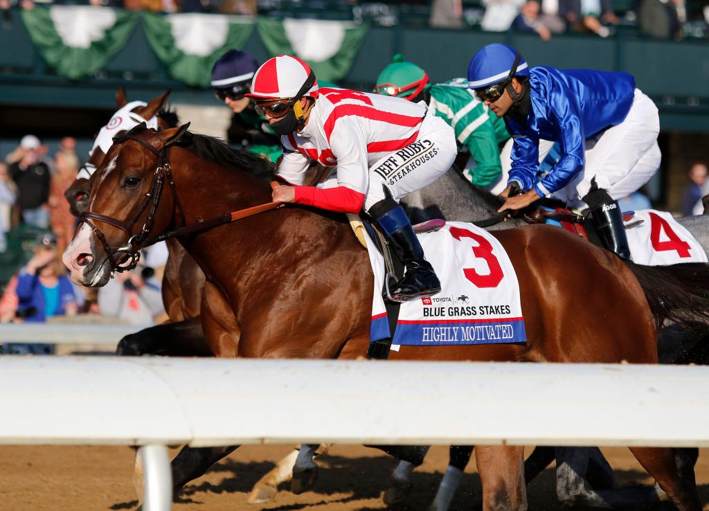 Toyota Blue Grass Stakes runner-up Highly Motivated.