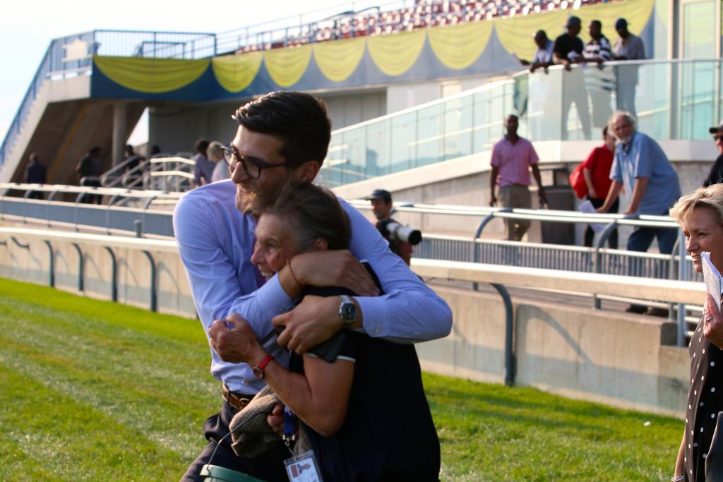 Connections celebrating. (Penelope P. Miller/America's Best Racing)