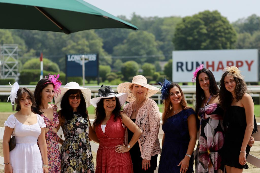 Scenes from Saratoga Race Course on Whitney day.
