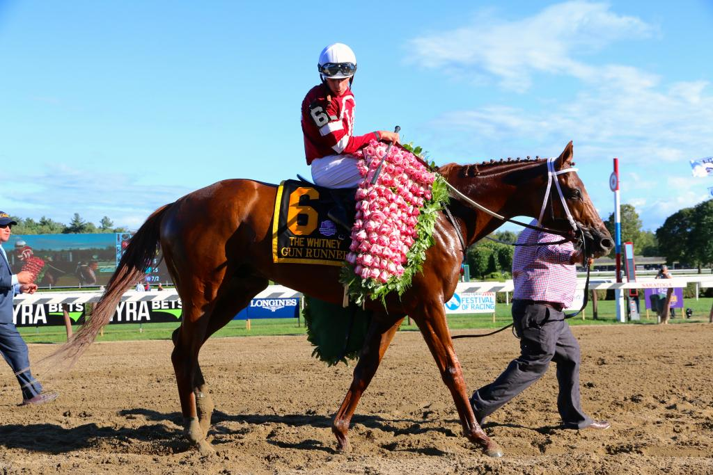 To the victor go the spoils. (Penelope P. Miller/America's Best Racing)