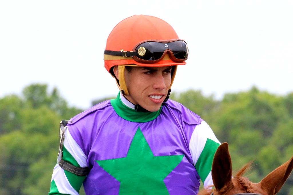 Jockey Irad Ortiz Jr. on Tampa Bay Derby day. (Penelope P. Miller/America's Best Racing)